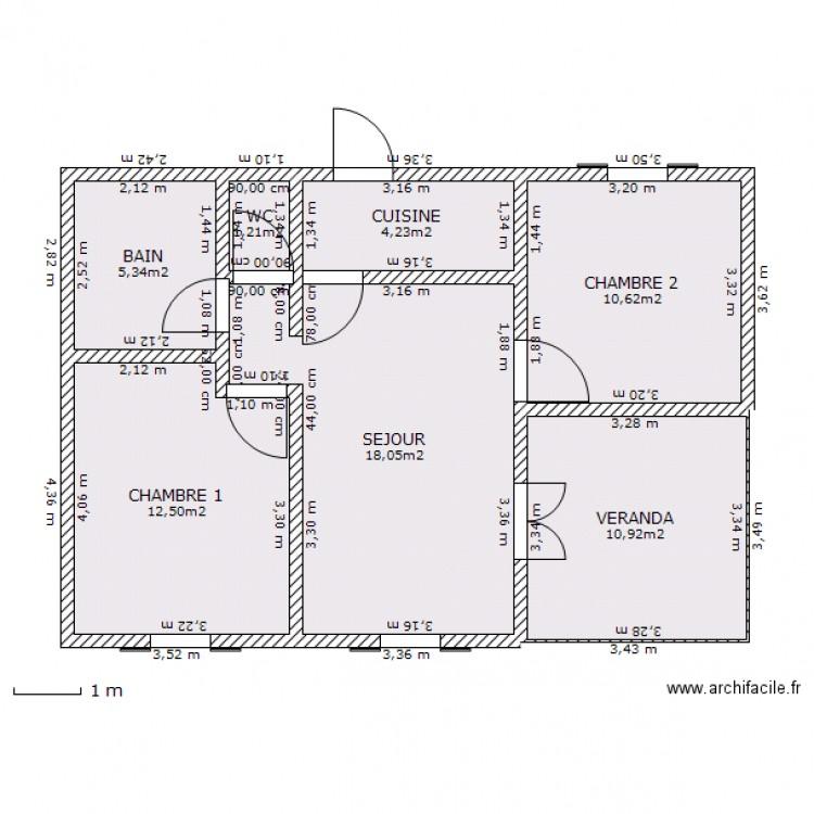 Maison bourbon bois plan 7 pi ces 63 m2 dessin par williamg for Modele maison bourbon bois reunion
