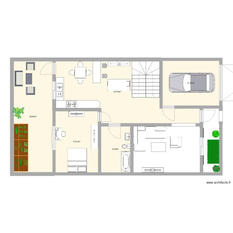 Plans une petite villa de 9m de fa ade villa chehdia for Plan petite villa moderne