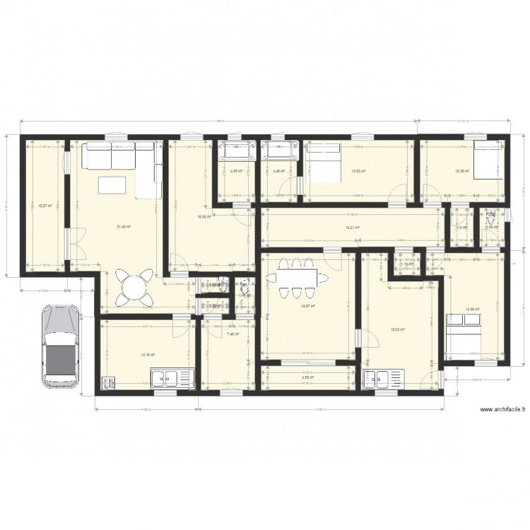 Belle Maison Plan 20 Pieces 190 M2 Dessine Par La Tichat