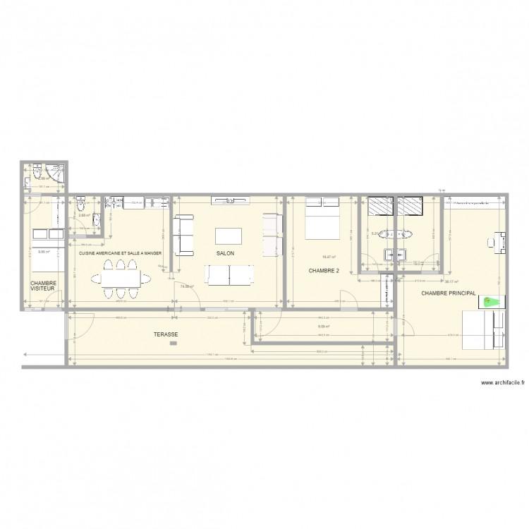 Maison plan 8 pi ces 162 m2 dessin par momo zreik for 162 plan