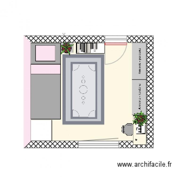 Chambre En Espagnol: Plan 1 Pièce 16 M2 Dessiné Par
