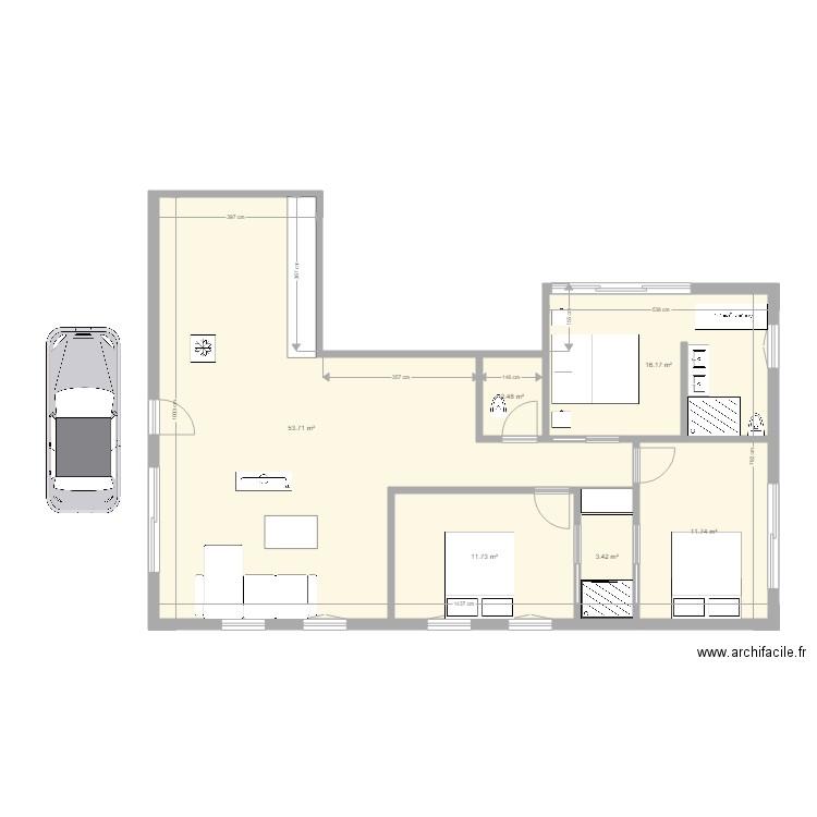 Maison F4 Plan 6 Pieces 99 M2 Dessine Par Miric971