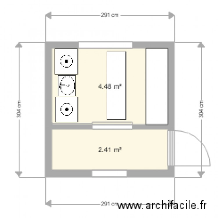 buanderie plan 2 pi ces 7 m2 dessin par smicaro. Black Bedroom Furniture Sets. Home Design Ideas