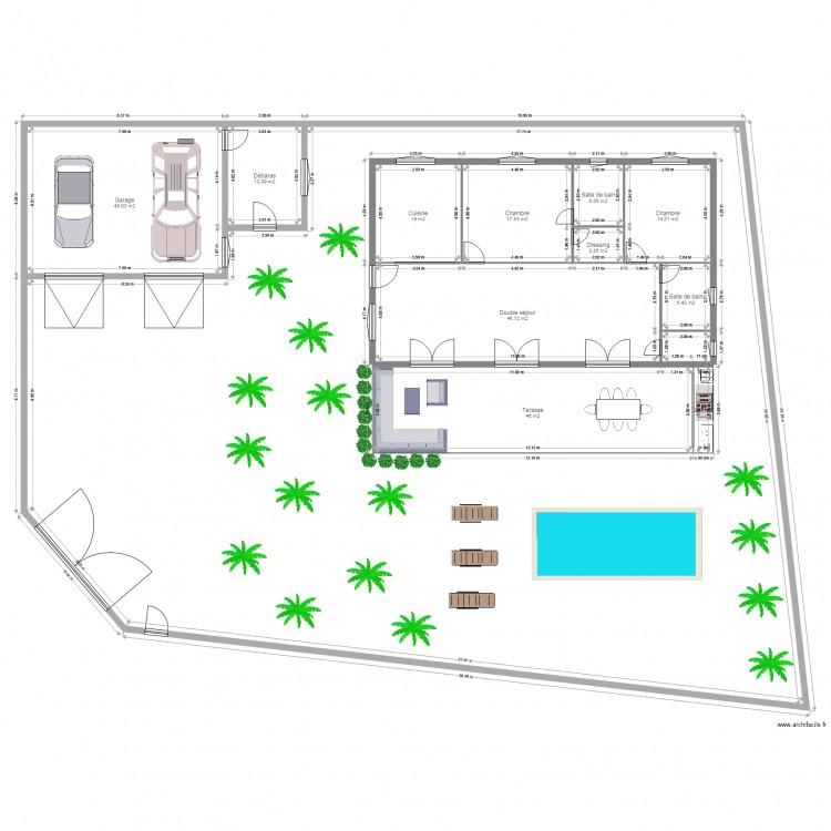 Plan maison 2 plan 11 pi ces 215 m2 dessin par patlehy - Plan de maison 2 pieces ...