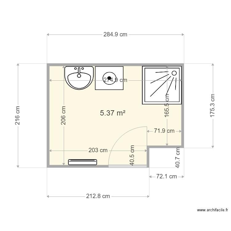 salle de bain malika plan 1 pi ce 5 m2 dessin par. Black Bedroom Furniture Sets. Home Design Ideas