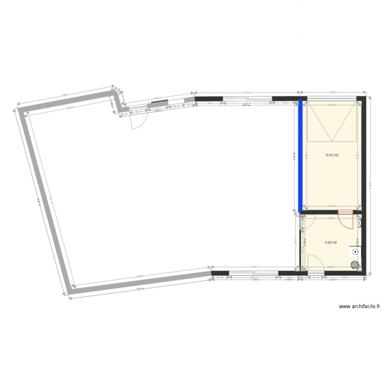 Maison Plan 2 Pi Ces 24 M2 Dessin Par Lilou3105