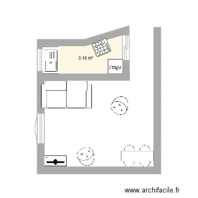 Cuisine 3d veranda plan 1 pi ce 3 m2 dessin par scribech for Cuisine 3d forum