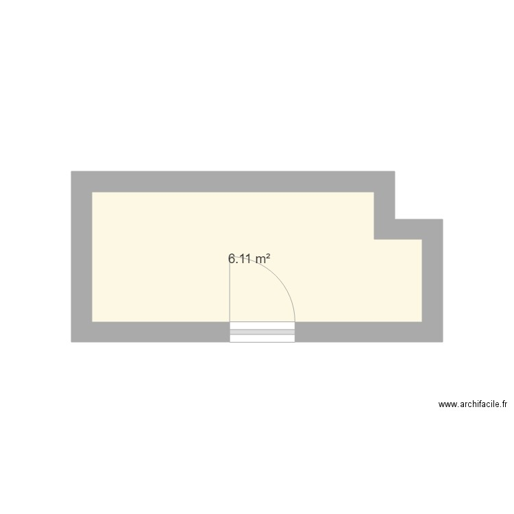 salle de bain 1 plan 1 pi ce 6 m2 dessin par rladjadj. Black Bedroom Furniture Sets. Home Design Ideas