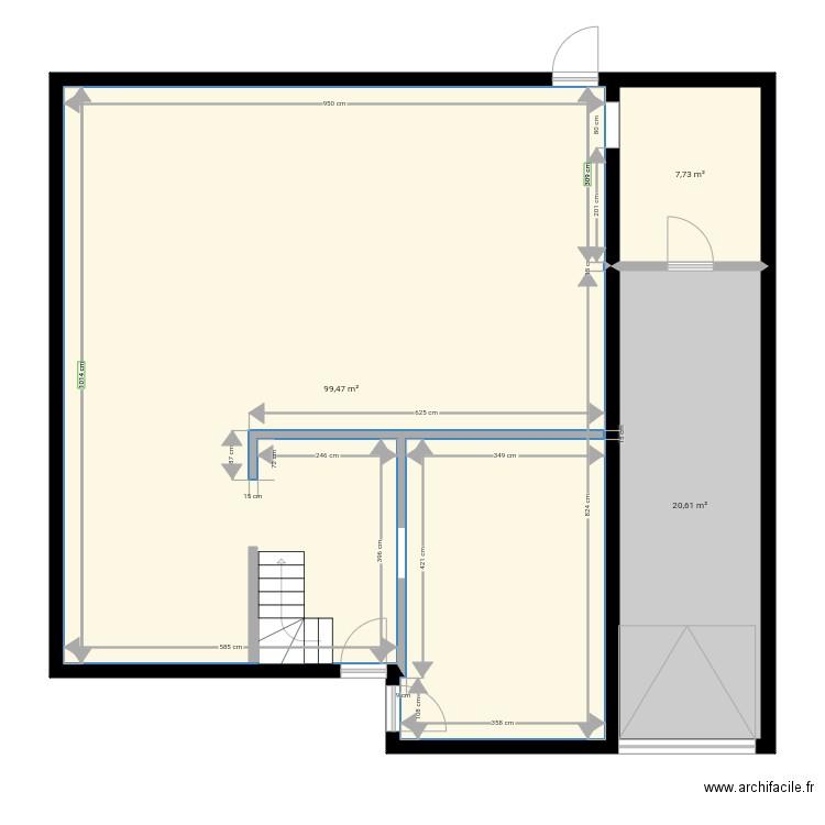 Cuisine bourbourg plan 1 pi ce 10 m2 dessin par mic for Bourbourg piscine