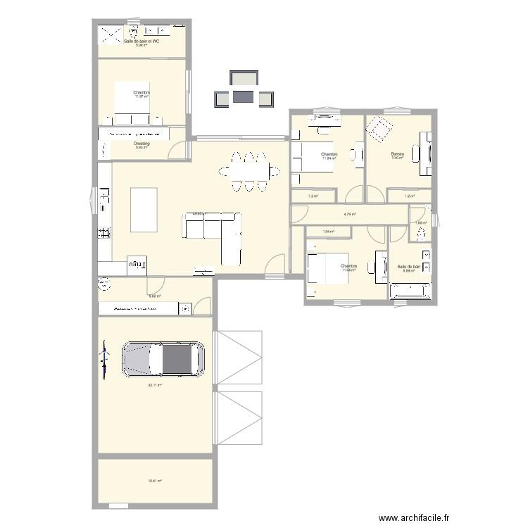 Maison 2017 plan 15 pi ces 154 m2 dessin par falcon78 for Modifier plan maison